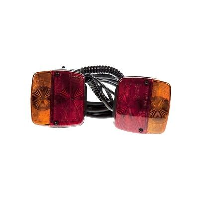 Maypole MP4424 Magnetic Trailer Lights 4 Function 10m Cable - Towing Electrics