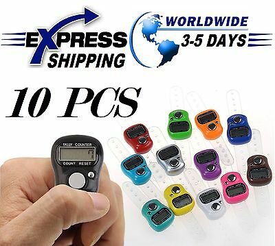 10 Digital Electronic LCD Tasbih Finger Tally Counter Islamic Zikr Islam Muslim