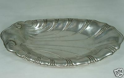 "VINTAGE SILVER PLATE SMALL OVAL TRAY/ PLATTER SHELL SHAPE ""NEPTUNE"" 1847 ROGERS"