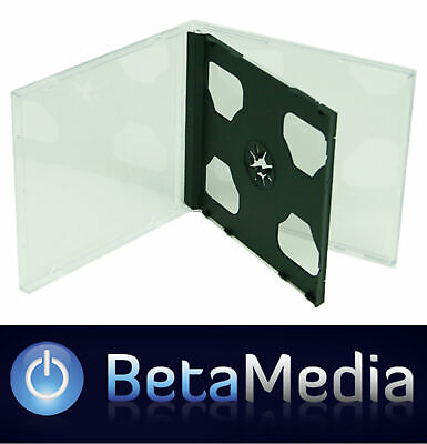 100 x Double Jewel CD Cases with Black Tray - Standard Size case