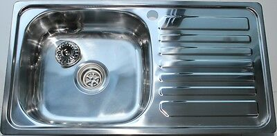 Stainless Steel Kitchen Sink - Single Square Bowl (75cmx40cm)