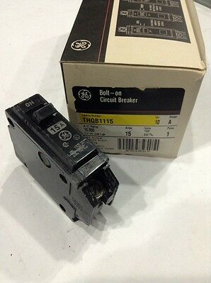 GE GENERAL ELECTRIC THQB1115 NEW CIRCUIT BREAKER 1 POLE 15A 120/240V Box Of 10
