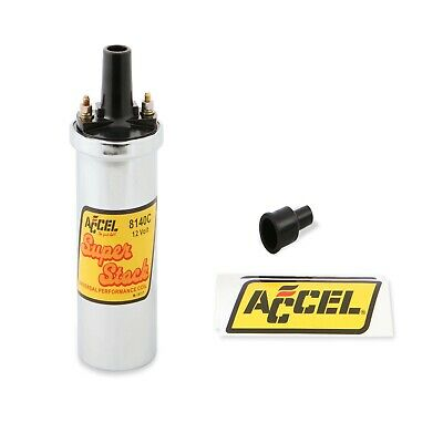 Accel 8140C Chrome Canister Ignition Coil with 42000 Volts and 94:1 Turns Ratio