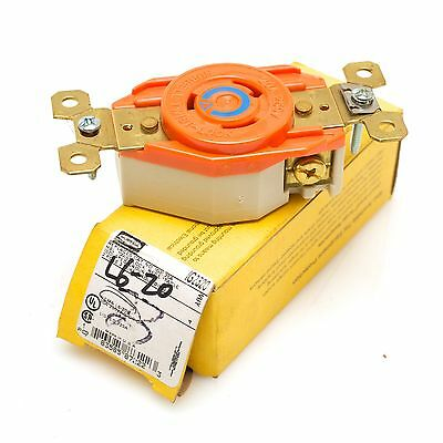 Hubbell Twistlock IG2320 20A 250VAC L6-20R Isolated Ground Receptacle