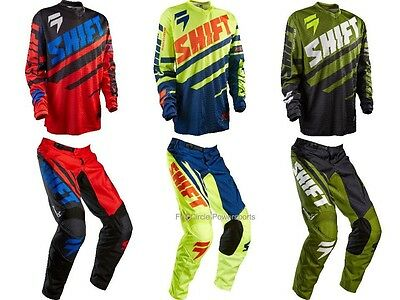 Shift MX Racing Assault Jersey & Pant Motocross ATV Off Road MTB Youth Childs