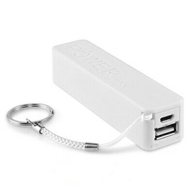 Portable External USB 2600mAh Power Bank Battery Charger for Mobile Phone White