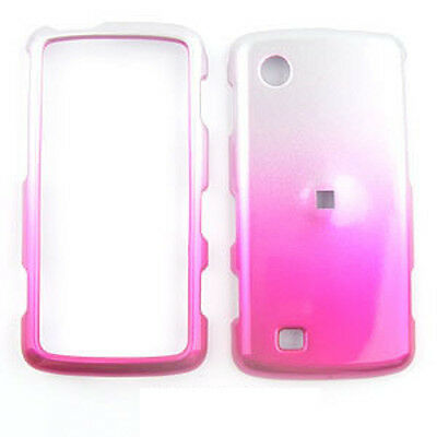 For LG VX8575 Chocolate Touch Case Cover 2 Tone Silver n Pink