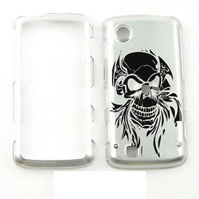 For LG VX8575 Chocolate Touch Case Cover TD Skull on Silver