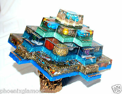 Powerful Egypt Mayan Aztec Orgonite Orgone healing 24k gold Ornament decoration