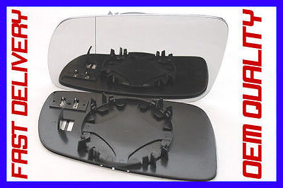 Vw Sharan 1.8T 20V 1999-03  Wing Mirror Glass Wide Angle  Heated Clip On  Left