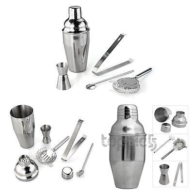 Set 5 Stainless Steel Cocktail Shaker Jigger Mixer Bar Drink