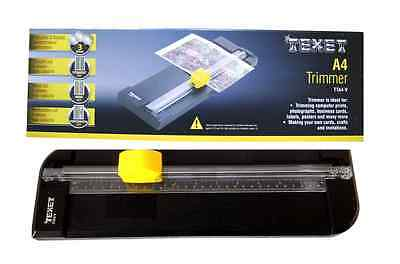 Texet A4 Paper Trimmer Guilotine Various Cutting Blades 5 Sheet Capacity TTA4-V