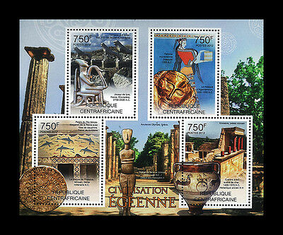 Central African Stamp, 2012 CAR INT1218A Ancient Qlympe, Greece,
