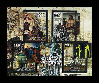 Central African Stamp, 2012 CAR INT1223A Roman Empire,Sculpture Jesus Christ,S/S