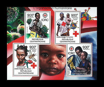 Central African Stamp, 2012 CAR INT1225A Jean Henri Dunant,1828-1910,Malaria,