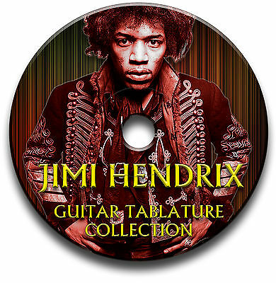 Jimi Hendrix Rock Guitar Tabs Tablature Song Book Anthology Software Library Cd