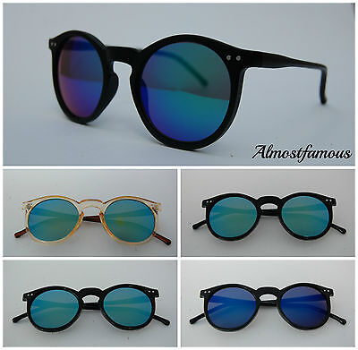 80s Retro fashion sunglasses vintage Mirrored Lens keyhole round good quality