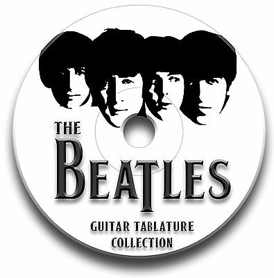 The Beatles Rock Pop Guitar Tabs Tablature Song Book Tuition Software Cd
