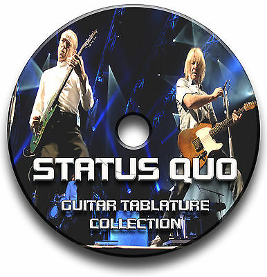 Status Quo Rock Guitar Tabs Tablature Song Book Anthology Software Tuition Cd