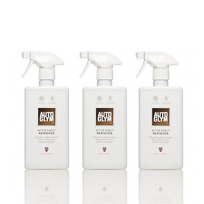 Genuine Autoglym Active Insect Remover 500ml x3 Bundle SAVE 12% (AIR500)