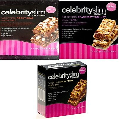 Celebrity Slim Snack Bars - Various Flavours - BEST VALUE!!!