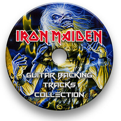 94 x IRON MAIDEN STYLE MP3 ROCK GUITAR BACKING JAM TRACKS CD COLLECTION LIBRARY