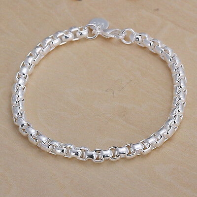 Free shipping wholesale sterling solid silver fashion chain Bracelet XLSB157