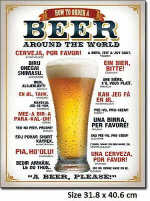 How To Order A Beer Rustic Tin Metal Sign 1808 Licensed