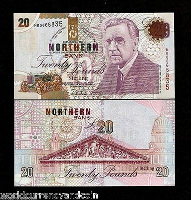 Northern Ireland 20 Pounds P202 1999 Commemorative Ferguson Unc Tractor Banknote