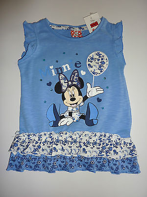 DISNEY Really Cute MINNIE MOUSE Blue Tunic Top NWT