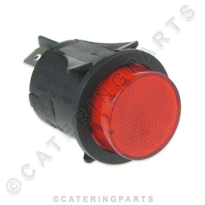 SW19 CIRCULAR 25mm SWITCH RED ILLUMINATED LATCHING PUSH BUTTON SWITCH ON OFF