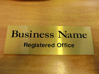 Quality Personalised Office / Business Door Sign / Plaque - Any Text - 300x100mm