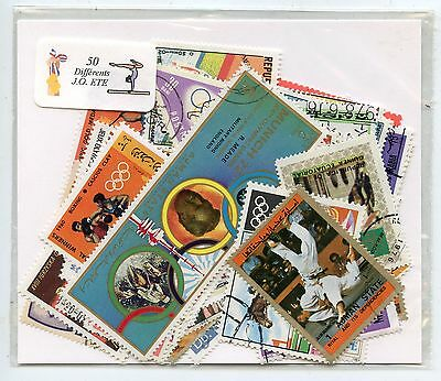 Stamp /  Lot De 50 Timbres Themes Jeux Olympiques  Differents