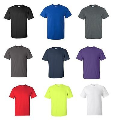 Men's Cotton Short Sleeve T-Shirt Tee Close Out Solid Plain Tshirt Various Brand