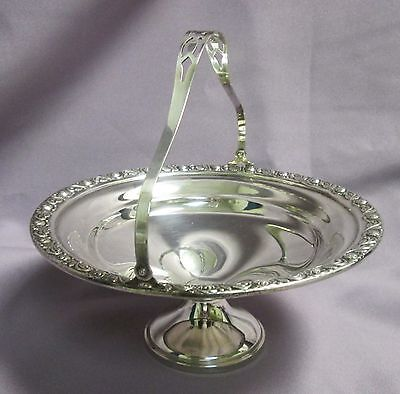 Mueckcary Sterling Silver Compote Bon Bon Bowl Basket #611 Scroll & Floral 6-1/4