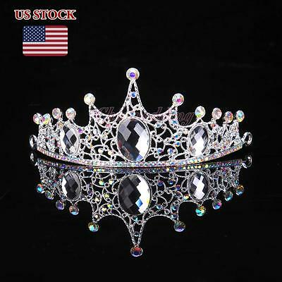 Colorful Austrian Rhinestone Crystal Tiara Crown Bridal Prom Headband New