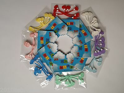 Nappy Nippas-Nappy Fasteners Assorted Colours Pack x 3 NEW