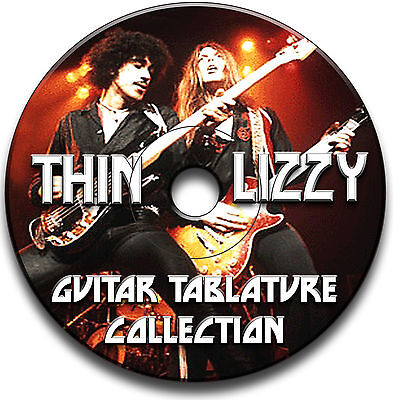 Thin Lizzy Rock Guitar Tabs Tablature Song Book Anthology Software Cd