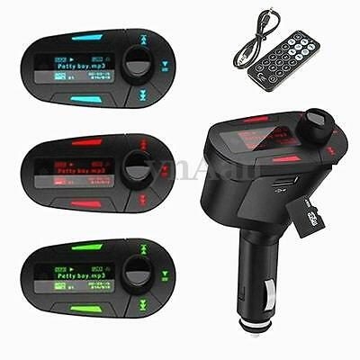 Wireless FM Radio Transmitter Car Audio MP3 Player USB SD Card For Mobile Phone