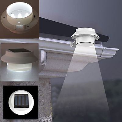 3 led projecteur lampe solaire eclairage lumiere pour exterieur mur jardin cour eur 2 31. Black Bedroom Furniture Sets. Home Design Ideas