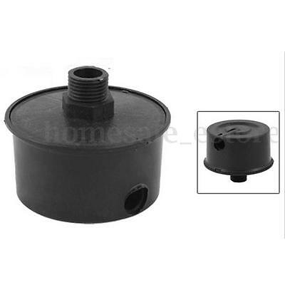 Black 16mm Male Threaded Filter Silencer Mufflers for Air Compressor Intake New