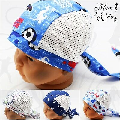 Kids Boys Toddler Car Print Head Scarf - Adjustable Headband Bandana Hat Cap SUN