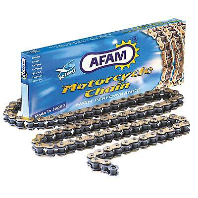 AFAM -7 XSR Heavy Duty Gold X Ring Chain For Kawasaki 2005 ZX6R C1 A520-7-110