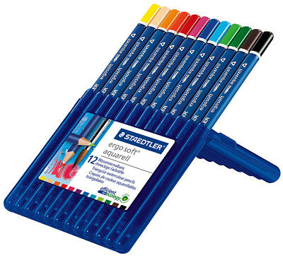 Staedtler Ergo Soft Aquarell Triangualr Watercolour Pencils Set of 12
