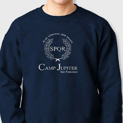 01087f8a CAMP JUPITER Percy Jackson Camp Half Blood T-shirt movie Crew Neck  Sweatshirt