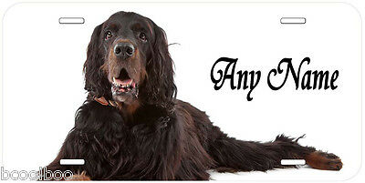 Gordon Setter Personalized Novelty Car License Plate A1