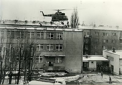 Postcard / Carte Postale Photo Laski Varsovie Pologne 1981 Solidarnosc  Pompiers