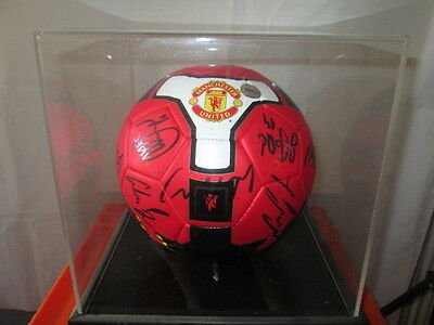 Manchester United 2008-2009 Squad Signed Football with club COA inc Rooney
