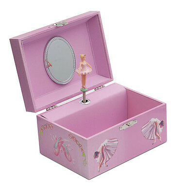 Girls Pink Ballet Dance Music Jewellery Box Chest By Katz Dancewear JB28