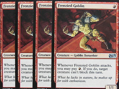 XXX 4x FRENZIED GOBLIN englisch magic 2015 M15 (goblin red) NM/MINT XXX XXX XXX